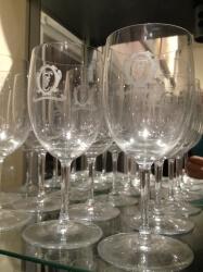 Set of 12 Bacarrat Academie de vin Bordeaux red wine glasses