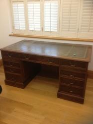 Reproduction mahogany large pedestal desk