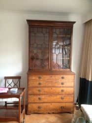 George III Secretaire bookcase in mahogany