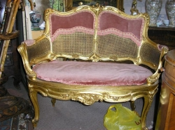 French Giltwood Canape