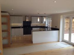 Kitchen with real Granite worktops & Upstands