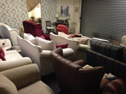 A selection of freshly upholstered sofas