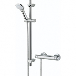 Bristan Artisan Exposed Bar Shower With Adjustable Riser Kit, Mulit Function Handset And Fast Fit Connections