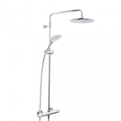 Bristan Carre Thermostatic Exposed Bar Shower With Rigid Riser And Integral Diverter To Handset