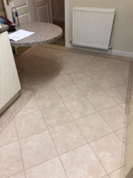 knight tile linten stone with Canterbury boarder