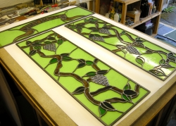 Commissioned Stained Glass Panels