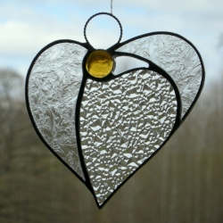 Abstract Stained Glass (Angel Heart) - in textured glass