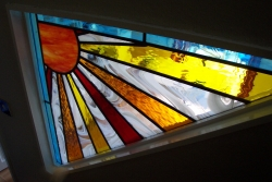 Commissioned Stained Glass Panel
