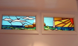 Lighthouse Panels Stained Glass Panels