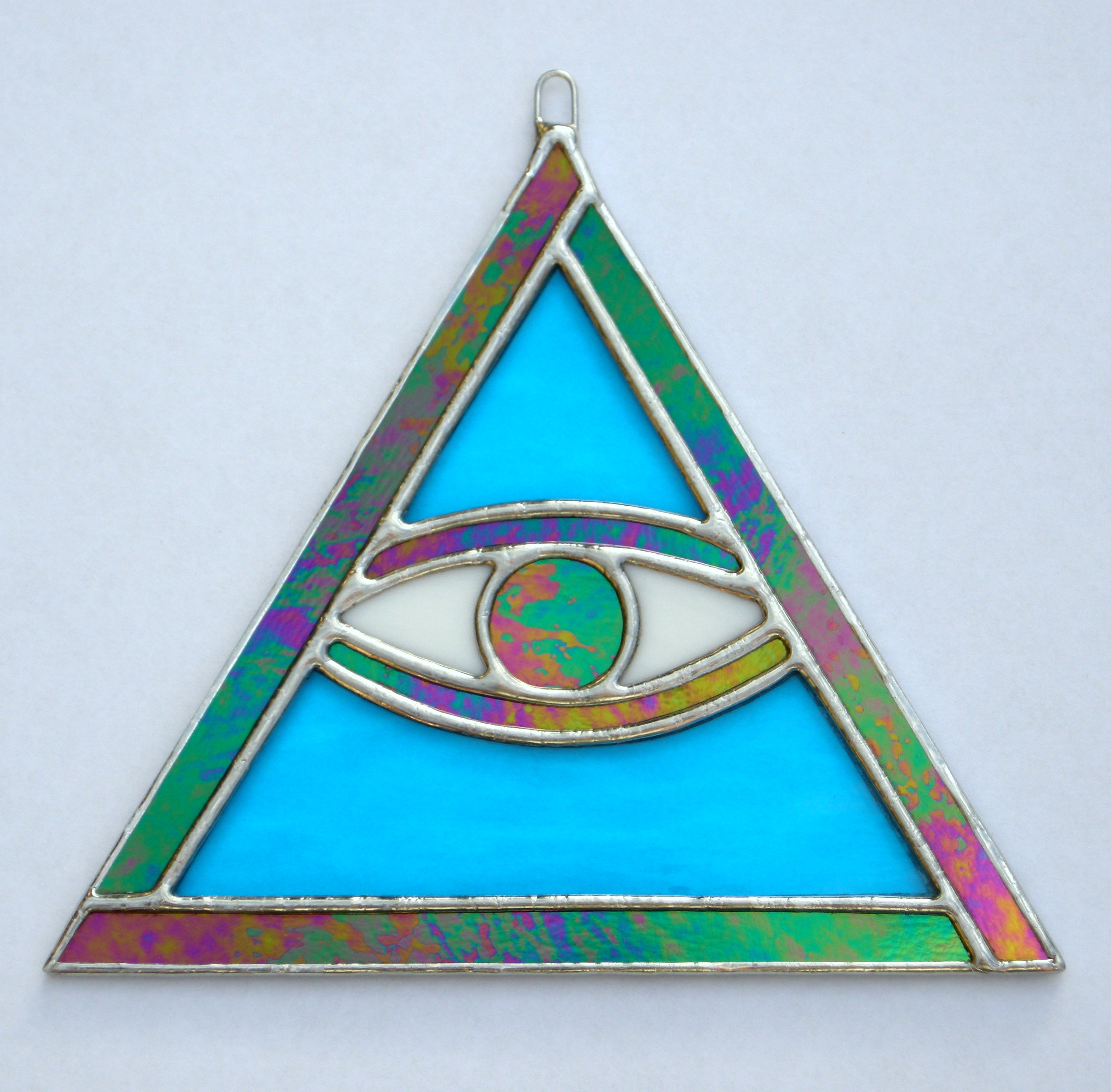 Stained Glass suncatcher - The All Seeing Eye
