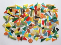 Stained Glass pieces (Various colour shades of opal and textured glass) off cuts...small pieces of glass