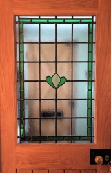 Commissioned stained glass door panel