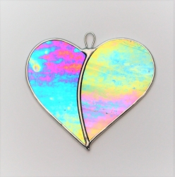 Stained Glass suncatcher (Love Heart)