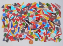 Stained Glass pieces (Various colour shades of mixed and textured glass) off cuts...small pieces of glass