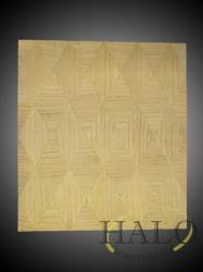 Veneered satinwood credenza door  Laser cut satinwood diamonds.