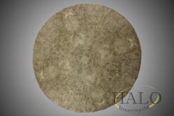 Veneered walnut bur circular dining table top.    Segmented & bookmatched bur walnut.