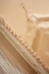 Cloakroom indulgence with bespoke padded coat hangers