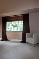 Semi transparent voiles create soft drapes with a noble shine