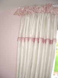 Pink and white silk with beaded detail for Princess perfection