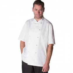 AFD white chefs jacket with press studs (DD08AFD)