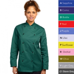 Dennys polyester/cotton technicolour chefs jacket (DD56)