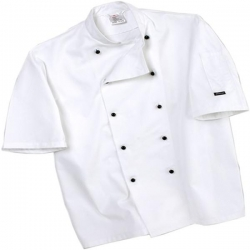 Dennys DD20S Short Sleeve Removable Stud Chef Jacket