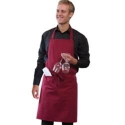 Bib apron with pocket and adjustable halter (DP55)