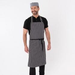 Dennys butcher stripe bib apron without pocket (DP85)