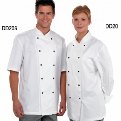 Dennys Unisex Long Sleeve Removable Stud Chef Jacket DD20