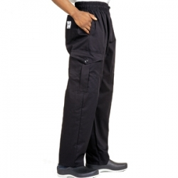 Le Chef Black Unisex Combat Trouser (DE25)