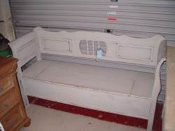 Panelled Back Dutch Bench 6ft