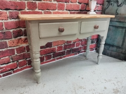 Old Victorian pine painted sofa table