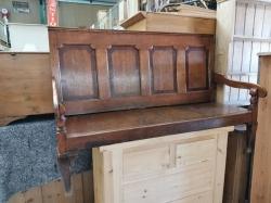 Oak Settle bench very old