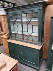 Astrical glazed painted Victorian pine dresser