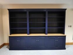 Huge bespoke handmade bookcase