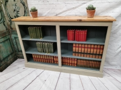 Painted old wood bookcase SOLD