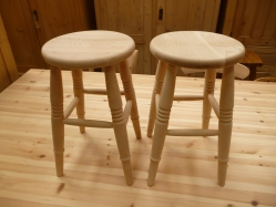 Low Round Beech Stool