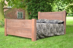 Sawn planked bed rough sawn