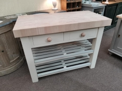New modern style butchers block with beech top