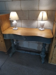 Serpentine Fronted Single Drawer Washstand - SOLD