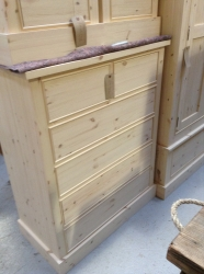 New pine handmade chest of drawers