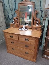 A beautiful pine chest with mirror SOLD