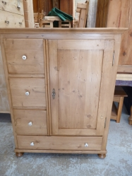 Antique pine Dutch larder unit