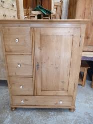 Antique pine Dutch larder unit
