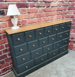 22 drawer chest in farrow and ball railings SOLD