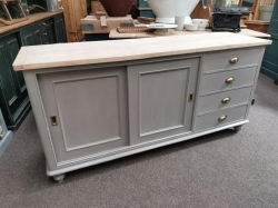 Sycamore topped sliding door sideboard..Victorian
