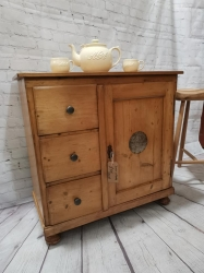 Dutch food cupboard small and hand waxed SOLD