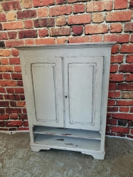 A Stunning Dutch Two Door Cupboard with Hidden Drawers -SOLD