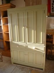 handmade larder / pantry unit with baskets
