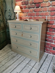 painted and pinstriped chest of drawers STUNNING